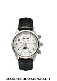 Modern Swiss made watch from a collection at Maurice de Mauriac watchmakers.