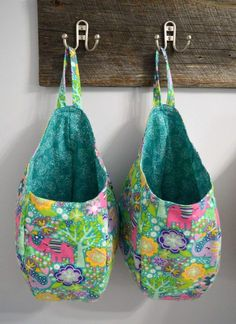 This is a digital sewing pattern and tutorial for a hanging storage pod designed by Calico Forest Designs.
