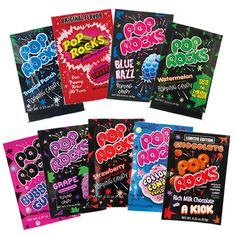 A poppin' pack of NINE of our favourite Pop Rocks flavours in one happy little bundle - this is America's Number One popping candy brand and we know why...it's delicious! And with this little lot, you get 10% off! Get poppin'!