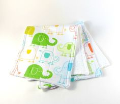 Baby burp cloths, infant burp cloths, quilted burpies, elephant burp cloths, 2 layer burpies, flannel burp cloths, terry burp cloths - pinned by pin4etsy.com