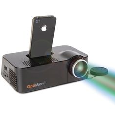 The iPhone Video Projector. Such a cool gadget, something I would love to own. It converts any movie or clip that may be stored in your iphone onto the big screen, as technology for projectors becomes smaller and smaller this gadget could be a fantastic addition to any business mans kit.