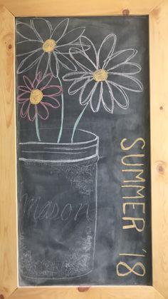 Summer 2018 - Chalk Art İdeas in 2019 Chalkboard Doodles, Chalkboard Art Quotes, Blackboard Art, Chalkboard Writing, Kitchen Chalkboard, Chalkboard Decor, Chalkboard Drawings, Chalkboard Lettering, Chalkboard Designs