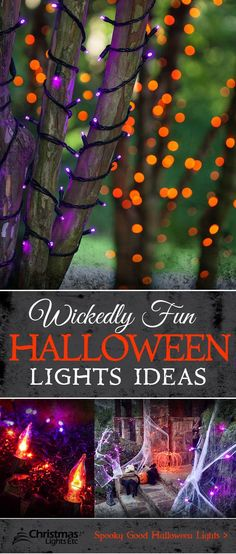 Spellbinding Halloween lights and decoration ideas bring your haunted house to life! Discover our enchanted selection of orange, green and purple Halloween lights.