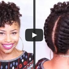 Natural Hairstyles For Medium Length Hair Amusing Pineapple Updo On Kinky Natural Hair Video  Pinterest  Updo