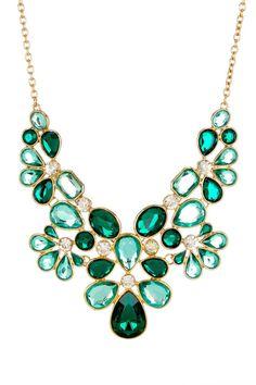 Multi-Shape Floral Bib Necklace