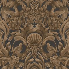 Gibbons Carving | Cole & Son Scenic Wallpaper, Original Wallpaper, Wall Wallpaper, Cole And Son Wallpaper, Organic Structure, Designer Wallpaper, 17th Century, Craftsman, Shells