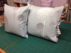 Piped and tied cushions