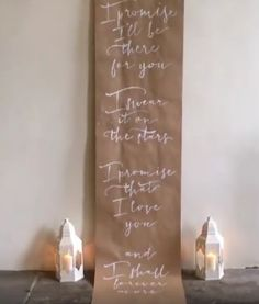 Wedding Poetry Calligraphy Installation