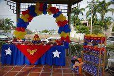Esta vez la fiesta de mi hija por sus 5 años fue de Wonder Woman, mujer maravilla al rescate… fue una fiesta llena de color y entretenida al máximo. Les contaré todo… la mesa de dulces,…