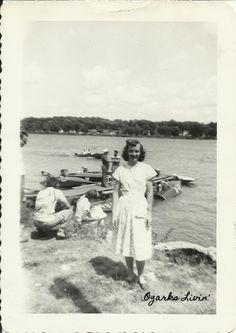 My mom.  Lake of the Ozarks 1948.  www.ozarkslivin.com