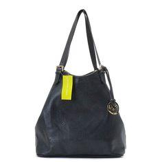 Michael Kors Perforated-Logo Large Black Grab Bag