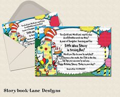 First+Birthday+Dr+Seuss+Invitation+by+storybooklanedesigns+on+Etsy,+$13.00