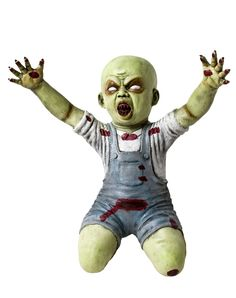 I have this zombie baby for my halloween yard decor he was a huge hit.