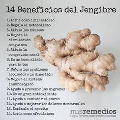 14 Beneficios del Jengibre que te Encantará Conocer #medicinasantiguas