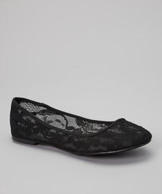 Take a look at the Black Lace Elle Flat on #zulily today!