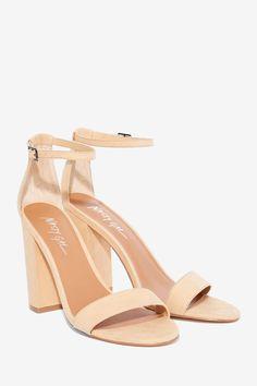 Nasty Gal Take the Strap Vegan Suede Heel - Sand | Shop Shoes at Nasty Gal!