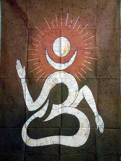 Buddhist Om Symbol Meaning Om batik painting on cotton Aum Tattoo, Lotus Tattoo, Ganesha Tattoo, Samoan Tattoo, Polynesian Tattoos, Tattoo Ink, Sleeve Tattoos, Hindu Symbols, Buddhist Symbols