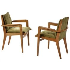 Pair of 1950s Armchairs, Model FS 106, by Pierre Guariche for Airborne | From a unique collection of antique and modern armchairs at http://www.1stdibs.com/furniture/seating/armchairs/