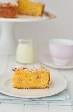Bacon, Carrot and Cheese Cake-basic savoury cake recipe.