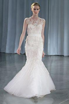 Mermaid-Hochzeitskleid: Auffälliges Spitzenmuster