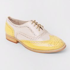 Yellow oxfords from Wanted Shoes