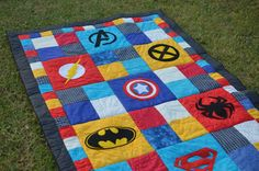 Last year I saw a few superhero rag quilts on Pinterest that looked awesome! I hadn't done much quilting, and I hadn't made a rag quilt before. I wanted to do a really good job of it, as I wanted t...