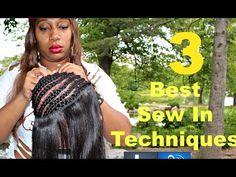 Full Sew in Weave Tutorial - 3 Techniques [Video] - http://community.blackhairinformation.com/video-gallery/weaves-and-wigs-videos/full-sew-weave-tutorial-3-techniques-video/