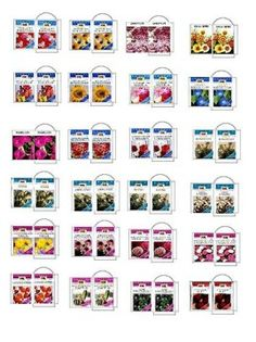 Miniature Seed Packet Printables