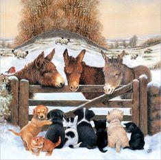 CHRISTMAS CARD CHRISTMAS FRIENDS