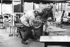 under construction Metal Workshop, Under Construction, Bradley Mountain, Amsterdam, Glass, Studios, Google, Drinkware, Corning Glass