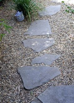 two hardscaping materials are used for this drought tolerant landscape design - Photo © Lisa Hallett Taylor