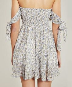 White Floral Kiss Me Dress