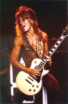 Randy Rhoads - incredible guitarist who featured on the first two Ozzy solo albums. He died in 1982 in a stupid accident.  He was in a light aircraft (piloted by someone else) buzzing the tour bus and it crashed. Such a pointless way to die and what a loss to the metal world.