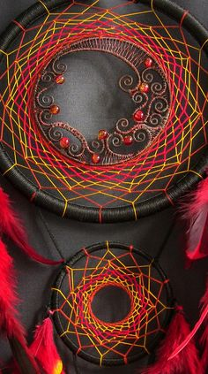 Dream Catcher DreamCatcher Boho Decor Dreamcatcher Black Red