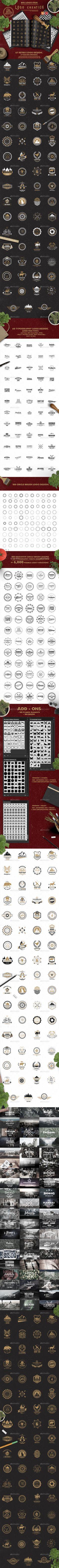 Logo Creation Kit Design - Badges & Stickers Web Elements