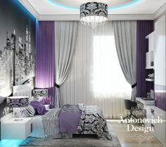 Лёгкий и светлый дизайн спальни создан при помощи стиля арт-деко. В такой спальне приятно просыпаться и засыпать.