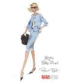 "Robert Best ""Barbie as Betty Draper"" Fashion Print"