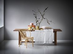 Wengler dining chair in rattan from Collections ICONS