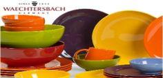 Campaña llena de piezas de vajilla, completa o sueltas. La casa alemana Waechtersbach nos presenta esta colección en colores llamativos.