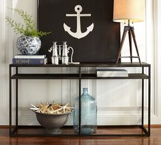 pottery barn entry table | Burke Console Table