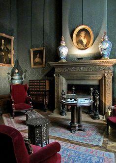 Antique and Classic Interiors ~ Men's Smoking Room