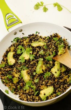 Black Lentil Quinoa Salad with Avocado. You don't even need the oil