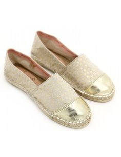 Gaimo's stars cotton canvas with metallic leather cap toe