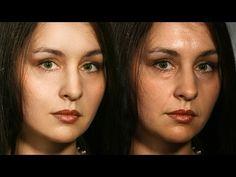 Частотное разложение кратко, понятно и весело. Ретушь портрета. Идеально красивая кожа. - YouTube