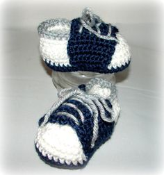 Crochet Boy or Girl baby infant tennis shoes by CookieLids on Etsy