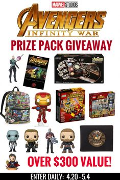 Avengers: Infinity War Giveaway with over $300 in Prizes US 5/4 #InfinityWar #THBGiveaway - Christy's Cozy Corners