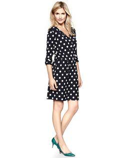 Gap | Dot henley pocket dress -- cute!