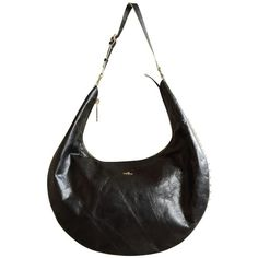 Pre-owned Hobo bag ($355) ❤ liked on Polyvore featuring bags, handbags, shoulder bags, black, white purse, white hobo purse, hobo purses, preowned handbags and hobo shoulder bags