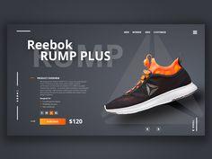 Reebok Sneakers presentation by Sergey Nikolaevitch UX\UI on Dribbble Website Design Layout, Web Layout, Layout Design, Ux Design, Tool Design, Graphic Design, Flyer Design, Ui Design Tutorial, Design Tutorials