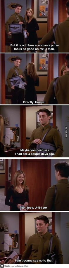 Ladies and gentlemen, Joey Tribbiani Friends - All time best show ! Friends Moments, Friends Series, Friends Show, Friends Forever, Funny Moments, Joey Friends, Funny Friends, Friends Episodes, Friends Cast